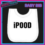IPOOD FUNNY SLOGAN WHITE BABY BIB EMBROIDERED NEW BORN GIFT